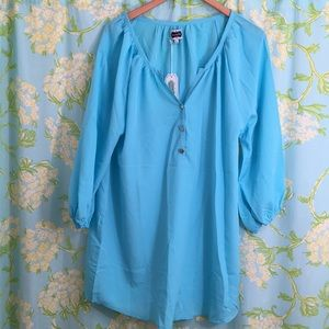 Mudpie Reese Tunic pacific blue top